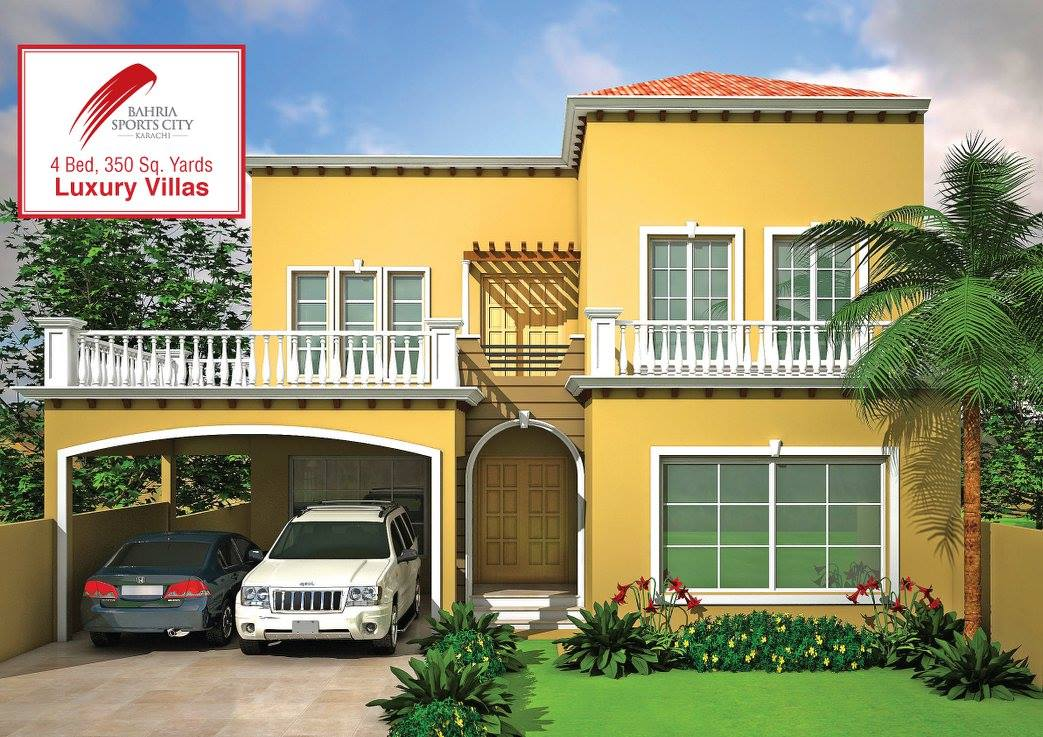 Front Elevation Of 200 Sq Yards : Bahria sports city villas haroon s estate and builders
