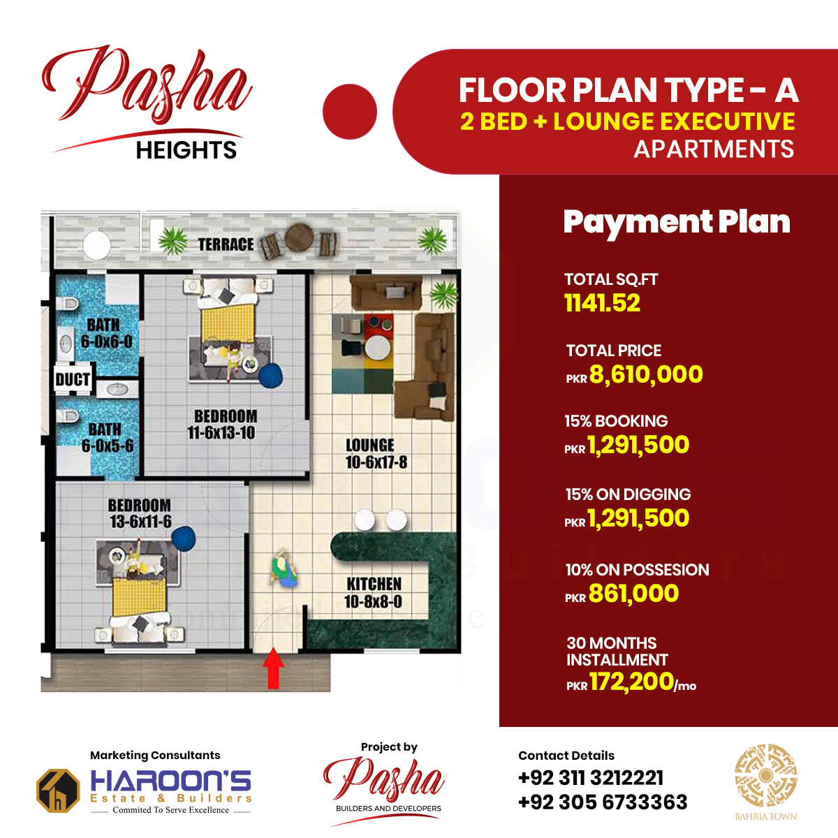 Pasha Heights Floor plan A