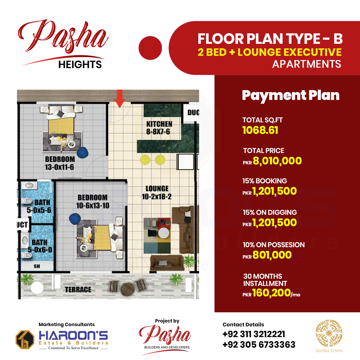 Pasha Heights Floor plan B